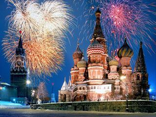 St. Peterburg in Moskva - novo leto